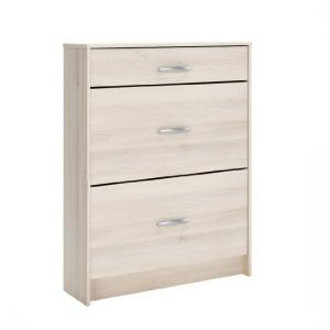 Osaka Shoe Storage Cabinet In Acacia With 2 Flap Doors