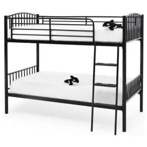 Oslo Twin Metal Bunk Bed In Black