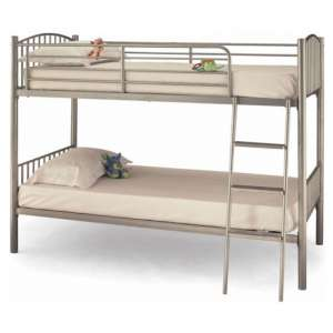 Oslo Twin Metal Bunk Bed In Silver