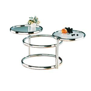 Ottawa Glass Coffee Table In Chrome With Swivel Motion