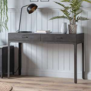 Ottistra Wooden 2 Drawers Study Desk In Black