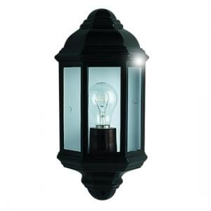 Outdoor Wall Flush Light In Black And Clear Glass