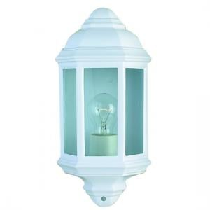 Outdoor Wall Flush Light In White And Clear Glass