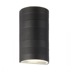 Outdoor Up Down LED Curved Wall Bracket In Black