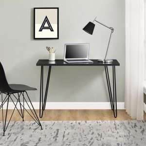 Owen Wooden Retro Laptop Desk In Black Oak