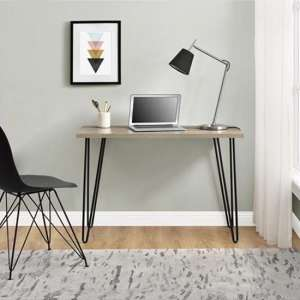 Owen Wooden Retro Laptop Desk In Rustic Oak