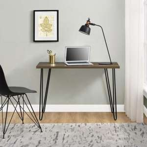 Owen Wooden Retro Laptop Desk In Walnut