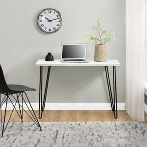 Owen Wooden Retro Laptop Desk In White