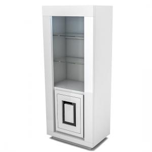 Padua Display Cabinet In Glossy White And Black With LED