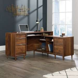 Palais Wooden Corner Computer Desk In Walnut