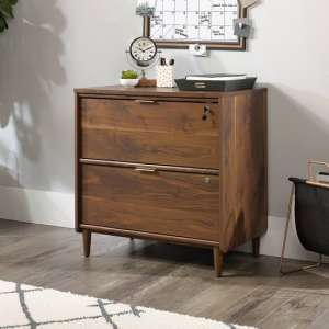 Palais Wooden Filing Cabinet In Walnut With 2 Drawers