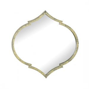 Paleo Contemporary Wall Mirror In Antique Gold