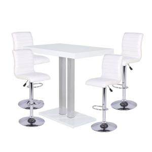 White Expensive Bar Table Sets Furniture In Fashion Palzo High Gloss With 4 Ripple