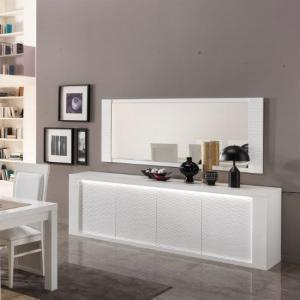 Pamela Sideboard Large In White High Gloss With Lighting