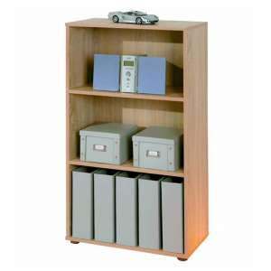 Parini Wooden Bookcase In Sonoma Oak With 2 Shelves