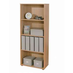 Parini Wooden Bookcase In Sonoma Oak With 3 Shelves