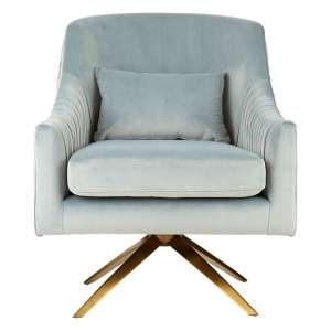 Parmelee Upholstered Velvet Bedroom Chair In Blue Finish