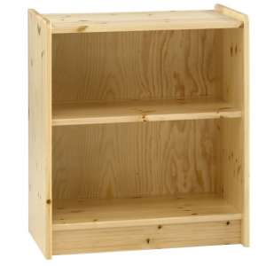 Pathos Childrens Low Bookcase In Pine With 2 Compartments