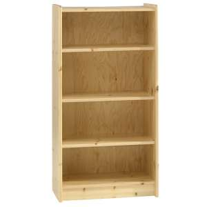 Pathos Childrens Tall Bookcase In Pine With 4 Compartments
