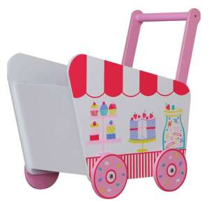 Patisserie Kids Push Along Toy Box In Pink