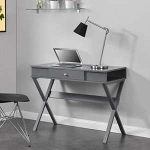 Paxton Wooden Laptop Desk In Grey