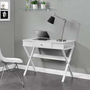 Paxton Wooden Laptop Desk In White