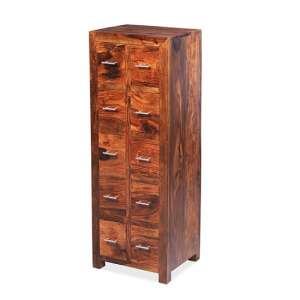 Payton Wooden CD DVD Storage Almirah In Sheesham Hardwood