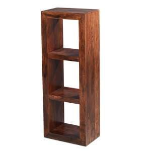 Payton Wooden Display Stand In Sheesham Hardwood With 2 Shelf