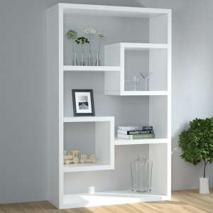 Escala Modern Display Shelving Unit In White Gloss