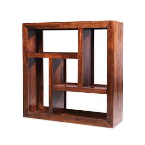 Payton Wooden Display Unit Square In Sheesham Hardwood