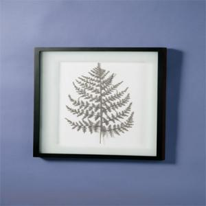 Picture Silver Shimmer Leaf Wall Art