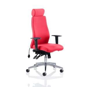 Penza Office Chair In Bergamot Cherry With Adjustable Arms