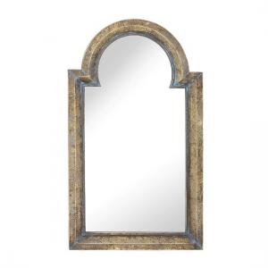Philippe Vintage Style Wall Mirror In Gold And Blue