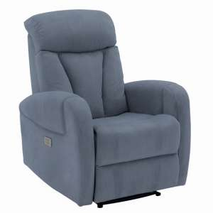 Phoebe Electric Dual Motor Fabric Recliner Chair In Blue
