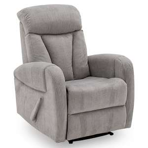 Phoebe Fabric Upholstered Recliner 1 Seater Sofa In Grey