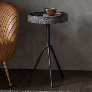 Pilson Metal Side Table In Grey And Black