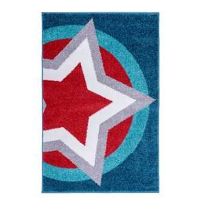 Play Days Hero Supershield Rug In Blue And Red Color