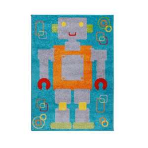 Play Days Robot Multi Color Rug