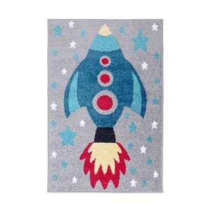 Play Days Rocket Multi Color Rug