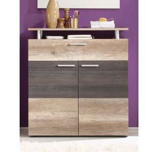 Polah Wooden Shoe Storage Cabinet In Monument Oak