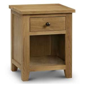 Porsha One Drawer Bedside Cabinet In Waxed Oak Finish