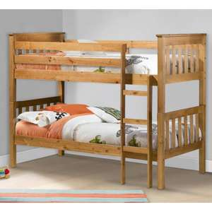 Portland Wooden Bunk Bed In Antique Pine