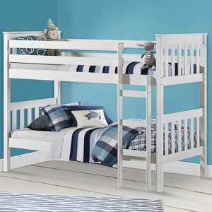 Portland Wooden Bunk Bed In White