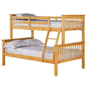Porto Triple Wooden Bunk Bed In Pine