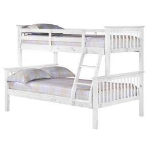 Porto Triple Wooden Bunk Bed In White