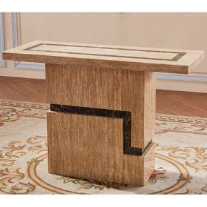 Potenza Marble Console Table In Lacquer