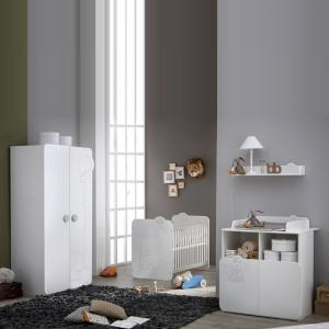 Prague Childrens Chest of Drawers In White With Changing Unit_3