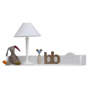Prague Wall Mounted Display Shelf In White