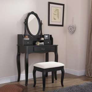 Prestige Contemporary Dressing Table Set In Black