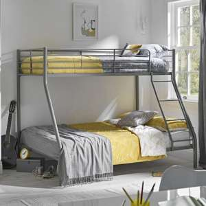Primo Metal Triple Sleeper Bunk Bed In Silver